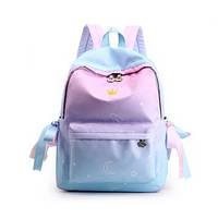 Новинка! Молодежный рюкзак омбре небесно голубой для девочки водонепроницаемый Космос школьный, городской