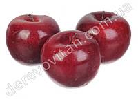 Декоративные яблоки, бордовые, 7 см, 5 шт.