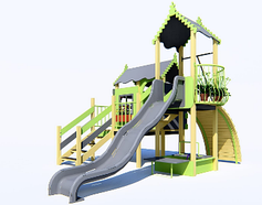 Дитячі ігрові будиночки, гірки, пісочниці, гойдалки
