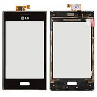 Touchscreen (сенсорный экран) для LG Optimus L5 E610/E612, c передней панелью, оригинал