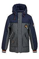 Демисезонная куртка на мальчика ANSK 98 синяя с серым 9891000D