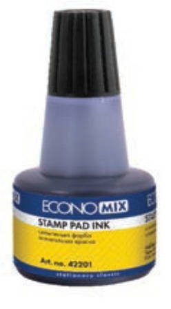 Краска штемпельная Economix 30 мл, черная