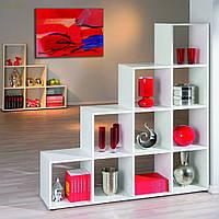 Стеллаж для дома, полка для книг из ДСП на 10 ячеек (4 ЦВЕТА) 1424x1430x290 мм