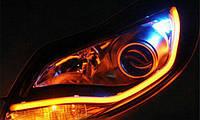 "Гибкий неон в фары ""Light guide lamp""/60см (yellow) к-кт 2шт"