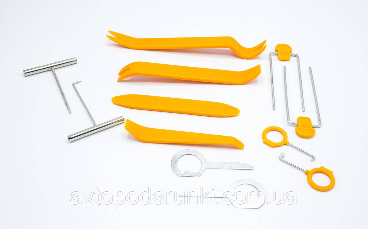 Набор снятия обшивок + ключи (12шт/желтый/блистер) / HF-007