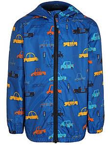 Куртка ветровка для мальчика синяя принт машин  George р.86/92см.