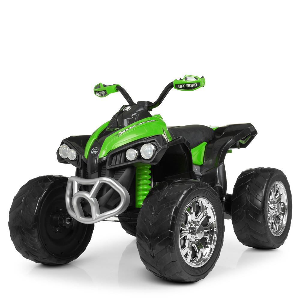 Дитячий квадроцикл M 4200 EBLR-5 з пультом управління, Шкіряне сидіння дитячий електромобіль