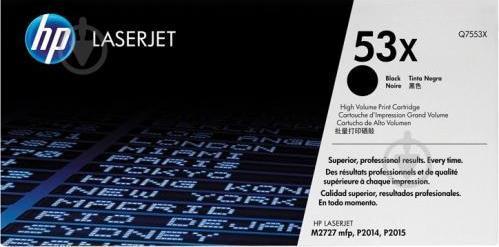 Картридж Q7553X для принтера HP LJ P2015 запечатаний в коробці