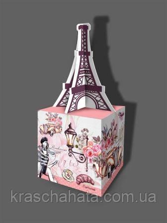 Подарункова коробка для цукерок з листівкою, Париж, 500 грам