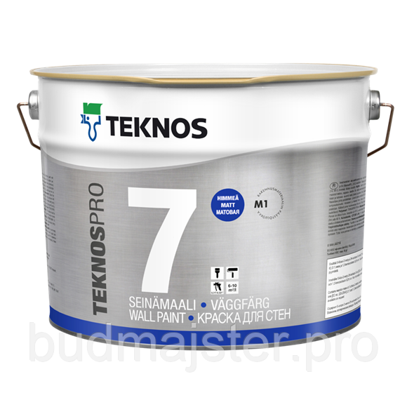 Фарба TEKNOSPRO 7 BASE PAINT 3 для стін, 9 л