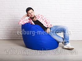 Кресло мешок груша средний  синий Oxford