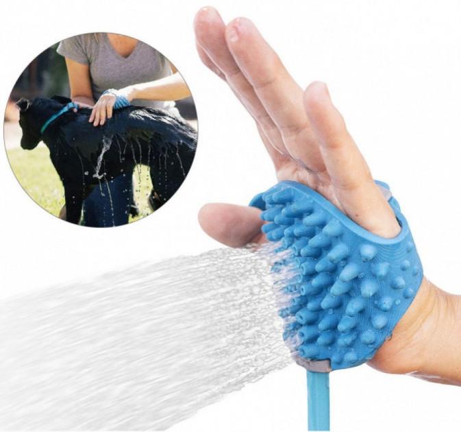 Перчатка для мойки животных Aquapaw, Щетка-душ для собак