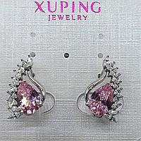 Ювелирная бижутерия серьги Xuping покрытые родием