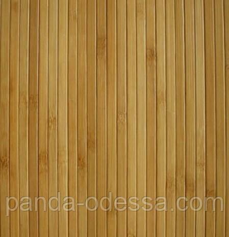 В пределах 3 м.п. /Бамбуковые обои темные, 1,5 м, ширина планки 8 мм / Бамбукові шпалери