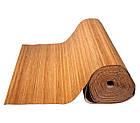 В пределах 3 м.п. /Бамбуковые обои темные, 1,5 м, ширина планки 8 мм / Бамбукові шпалери, фото 3