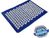 Набор (коврик+валик) акупунктурный массажный Релакс 55*40*1 см (Shakti Mate, Acupressure mat), синий, фото 6