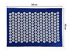 Набор (коврик+валик) акупунктурный массажный Релакс 55*40*1 см (Shakti Mate, Acupressure mat), синий, фото 4