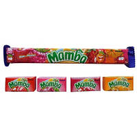 Жевательные конфеты Мамаба Mamba Strock Германия 106 гр в упаковке 4 вкуса