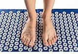 Набор (коврик+валик) акупунктурный массажный Релакс 55*40*1 см (Shakti Mate, Acupressure mat), синий, фото 5