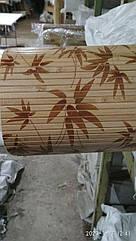 """В пределах отрезка 1  м.п / Бамбуковые обои """"Листья бамбука"""" коричневые 0,9 м,п.8 мм"""