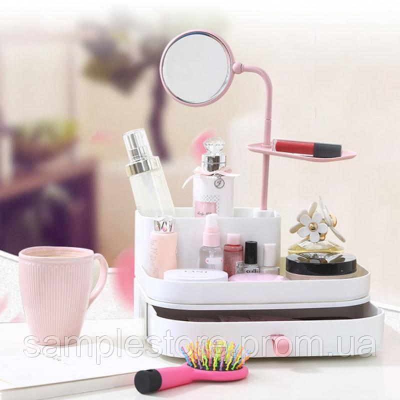 Органайзер для косметики с зеркалом 7009 dress case with mirror