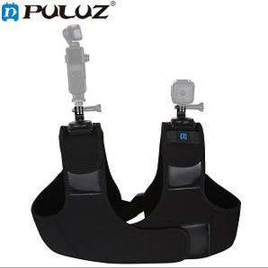 Крепление на плечо для экшн камер с двумя крепежами на 360 градусов (PULUZ) PU453