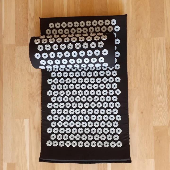 Набор (коврик+валик) акупунктурный массажный Релакс 40*65*2 см (Shakti Mate, Acupressure mat), синий