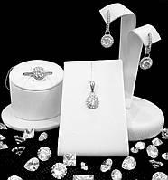 Серебряные серьги с фианитами. Артикул 920054б