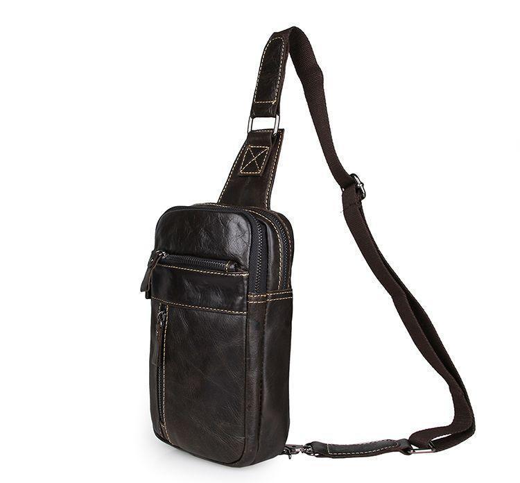 Мини рюкзак кожаный винтажный для мужчин темно-серый
