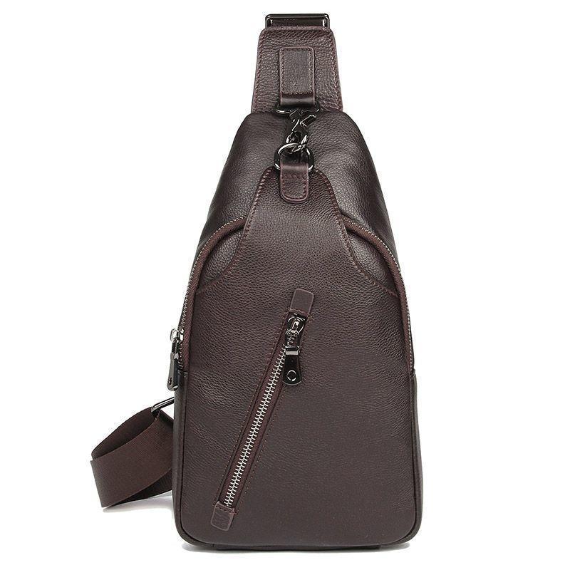 Мини-рюкзак из натуральной кожи для мужчин на одной шлейке