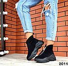 Женские зимние ботинки в черном цвете, из натуральной замши 36 ПОСЛЕДНИЙ РАЗМЕР, фото 2