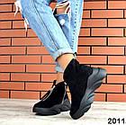 Женские зимние ботинки в черном цвете, из натуральной замши 36 ПОСЛЕДНИЙ РАЗМЕР, фото 3