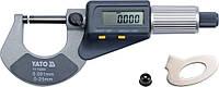 Микрометр с цифровым дисплеем 0-25 мм YATO