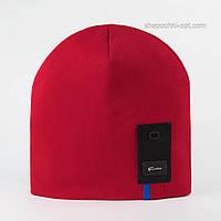 Удлиненная трикотажная шапка Патрик красная