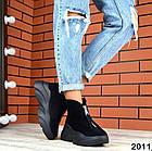 Женские зимние ботинки в черном цвете, из натуральной замши 36 ПОСЛЕДНИЙ РАЗМЕР, фото 5