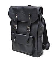 Кожаный рюкзак мужской черный