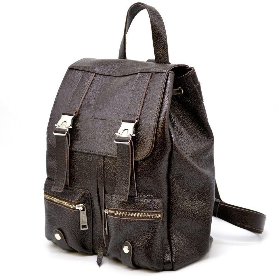 Кожаный рюкзак мужской флотар темно-коричневый