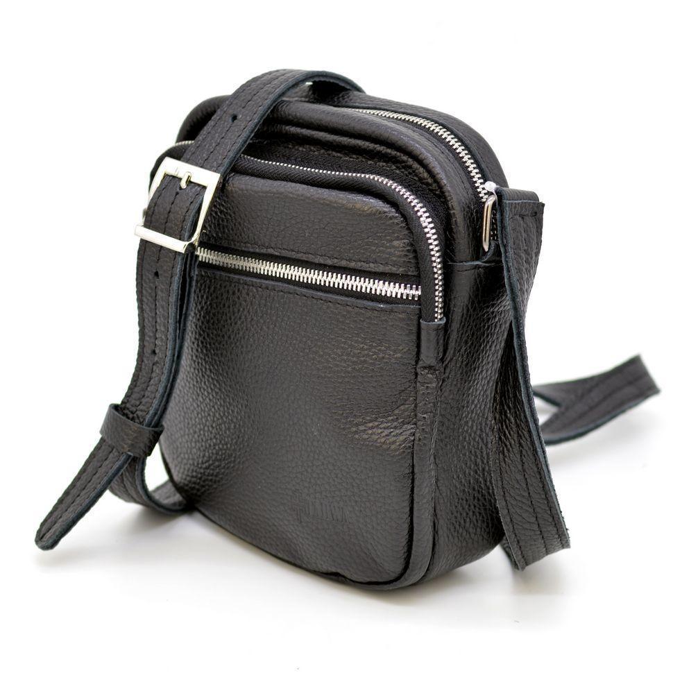 Компактная кожаная сумка для мужчин