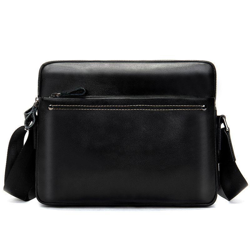 Горизонтальная мужская сумка через плечо на каждый день