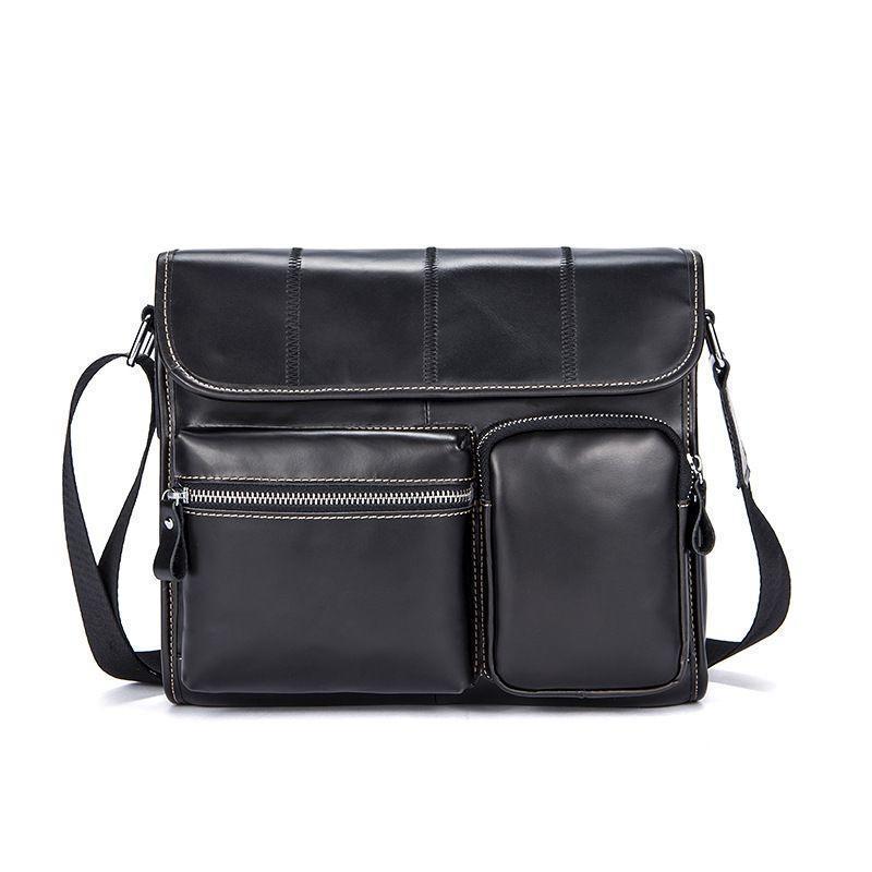 Мужская сумка черная через плечо