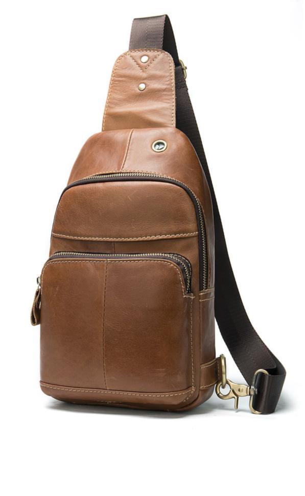 Мини-рюкзак для миллениалов кожаный на одно плечо