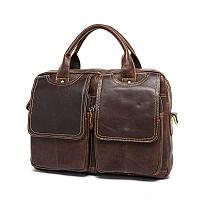 Кожаная мужская сумка стильная на плечо