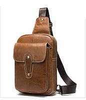 Мини-рюкзак кожаный на одно плечо