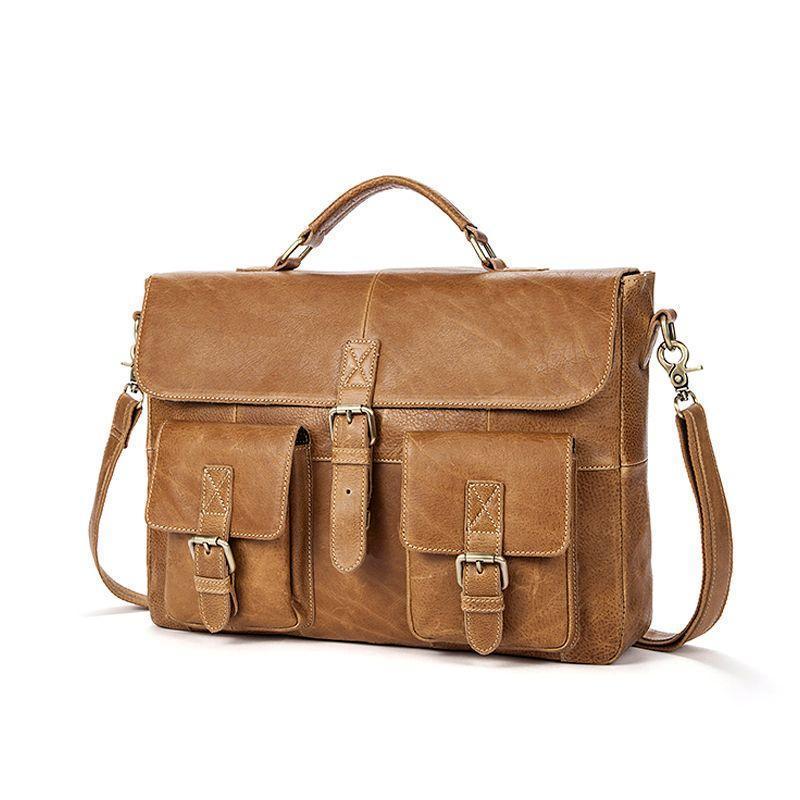 Кожаный портфель для мужчин делового стиля
