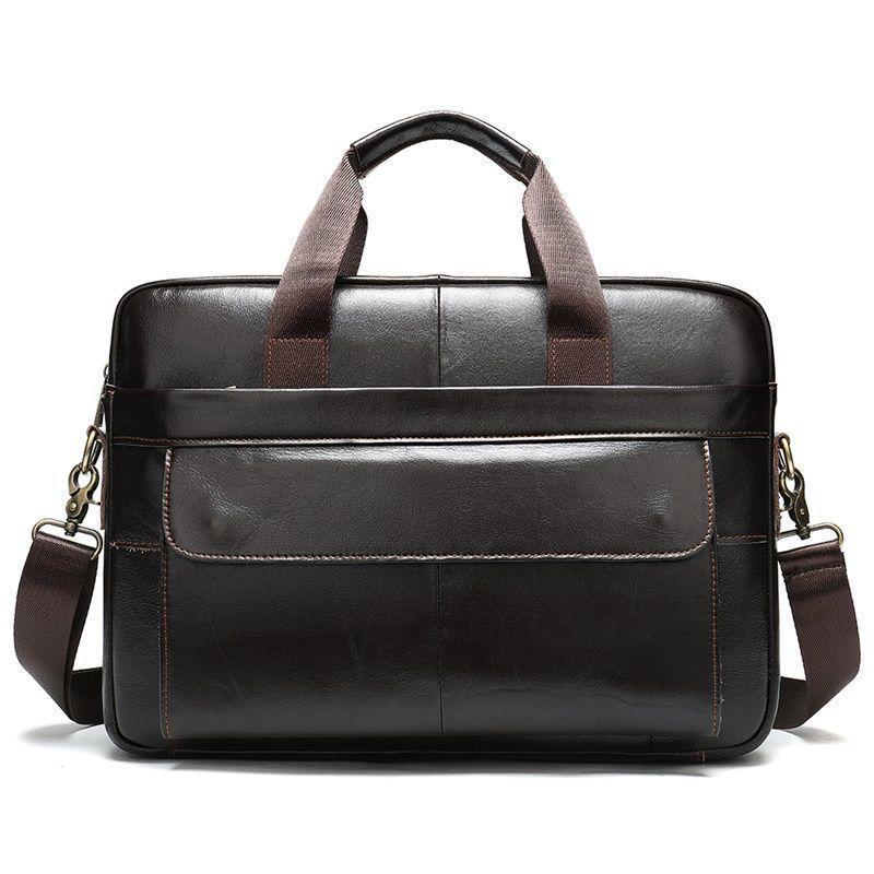 Удобная кожаная повседневная сумка для мужчин