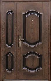 Двухстворчатые полуторные китайские входные двери ТР-С 61 тефлон