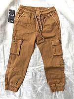 Детские котоновые джоггеры для мальчиков с накладными карманами,разм 3-8 лет, фото 1