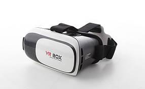 3D очки виртуальной реальности VR BOX для Android/IOS от 4.5 до 6 дюймов Черный с белым (R0028)