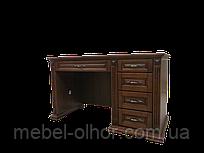 Письменный стол из массива Версаль 120*h75*60 в белом цвете