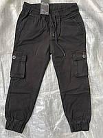 Подростковые черные котоновые джоггеры для мальчиков с карманами,разм 9-14 лет, фото 1